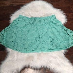 Aeropostale Turquoise Skater Skirt Lace Skirt